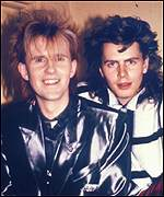 Howard Jones with 'artistic' friend