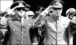 General Augusto Pinochet and General Gustavo Obit Leigh