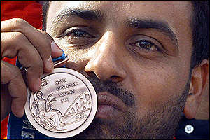 Double trap shooting bronze winner, Al Deehani of Kuwait