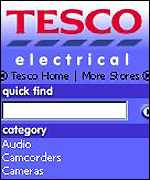 Tesco electical screen grab