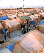 Afghan refugee camp