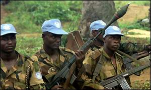 Nigeria troops serving with the UN in Sierra Leone