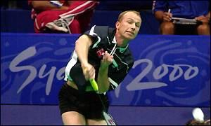 glow badminton net