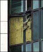 Damage to MI6 building