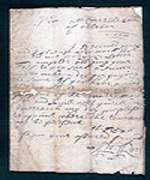 Rob Roy letter