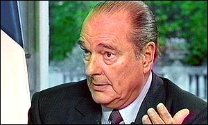 Chirac during interview responding to claims