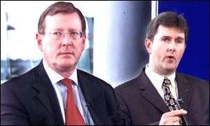 Jeffrey Donaldson ( right) with party leader David Trimble