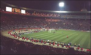 England v Germany in Euro 96