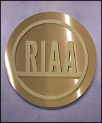 The seal of the Recording Industry Association of America