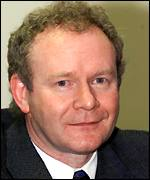 Education minister Martin McGuinness