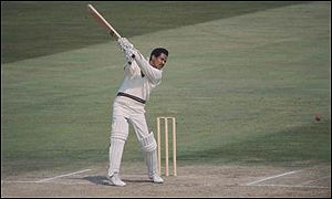 Sir Garfield Sobers batting for the West Indies