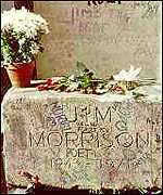 Jim Morrison's Paris grave