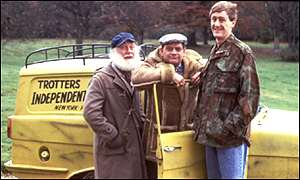 Reliant Robin on the set at Only Fools and Horses