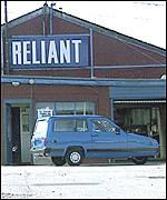 Reliant Robin outside factory