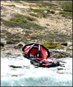 Life saving equipment was washed up on shore