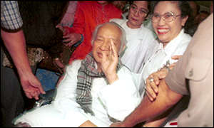Suharto after release from hospital August 1999