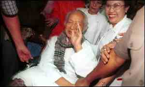 Mr Suharto leaving hospital