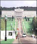 The Stormont parliament building