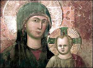 Madonna and Child fresco