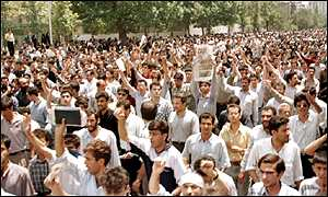 pro-reform students demonstration in Tehran