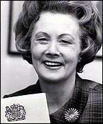 Barbara Castle as Employment Secretary in the 1960s