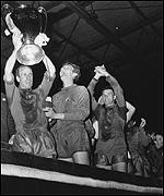 European Cup 1968. Stiles (extreme right)