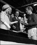 The Queen and Bobby Moore