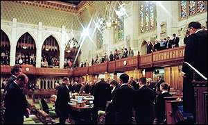 Canadian House of Commons mourning Pierre Trudeau