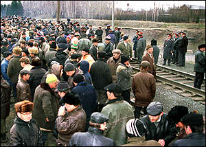 Russian miners block the Trans-Siberian railway