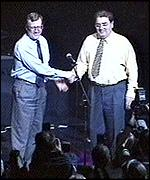 [ image: Trimble and Hume: Historic meeting in front of 2,000 teenagers]