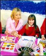 Gaby Roslin and a child