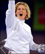 Kate Allenby in the fencing