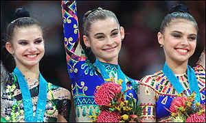 BBC SPORT | GYMNASTICS | Barsukova shows perfect rhythm