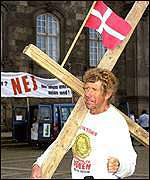 Danish anti-euro demonstration