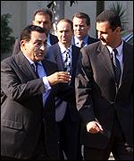 Presidents Mubarak and Assad