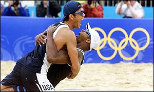Men's beach volleyball