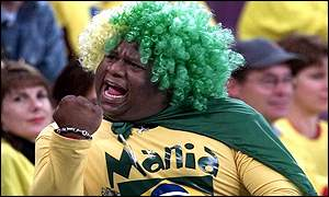 A Brazillian football fan.