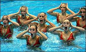 Frances synchronized swimming team.