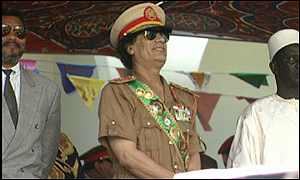 Colonel Gaddafi with African leaders