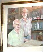 A portrait of Ron Strank and Roger Fisher