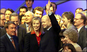 Tory leader William Hague and shadow cabinet members
