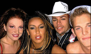 The Vengaboys: Denice, Kim, Roy and Yorick
