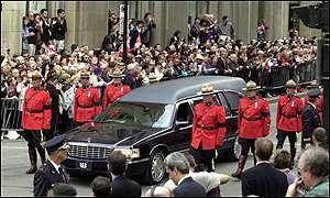 Funeral procession of Pierre Trudeau