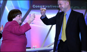 Ann Widdecombe and William Hague at Tory conference