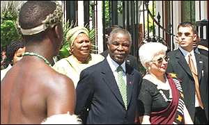 President Mbeki at parliament