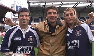 Caniggia and Carranza are welcomed by Ivano Bonetti