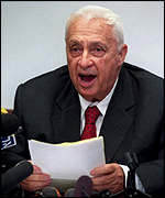 Likud party leader Ariel Sharon