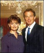 Cherie Booth and Tony Blair
