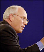 Republican vice presidential candidate Dick Cheney