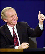 Democratic vice presidential candidate Joe Lieberman